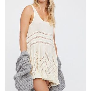 Free People Voile and Lace Trapeze Dress/slip
